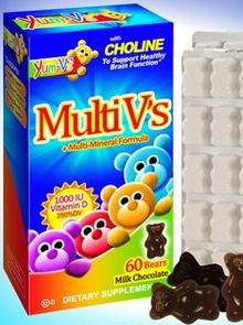 Image of Yum-V's Multi V's & Minerals with D Chewable Chocolate