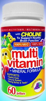 Image of Yum-V's Multivitamin & Mineral Formula Chewable Gummies Yummy Grape