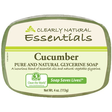 Image of Clearly Natural Glycerine Bar Soaps Cucumber