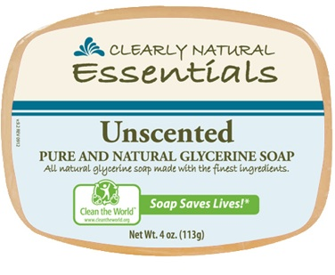 Image of Clearly Natural Glycerine Bar Soaps Unscented
