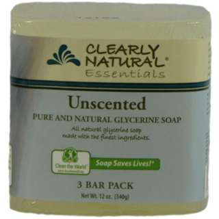 Image of Clearly Natural Glycerine Bar Soaps Unscented Pack