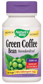 Image of Green Coffee Bean Standardized Extract 500 mg