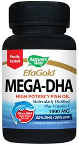 Image of Mega-DHA 1000 mg High Potency Fish Oil EfaGold