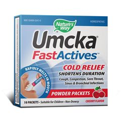 Image of Umcka FastActives Cold Relief Powder Packet Cherry