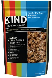Image of KIND Healthy Grains Vanilla Blueberry Clusters with Flax Seeds