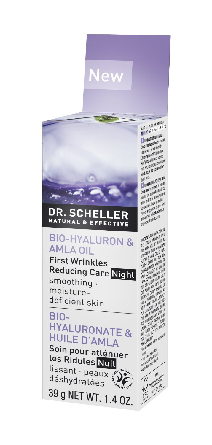 Image of Hyaluron & Amla Oil First Wrinkle Reducing Care Night Smoothing for Dry Skin