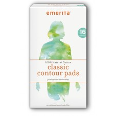 Image of 100% Natural Cotton Classic Contour Pads