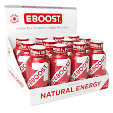 Image of Eboost Natural Energy Booster Liquid Superberry 12 pack