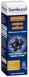 Image of Sambucol Original + Vitamin C + ZINC Effervescent Tablet