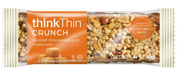 Image of thinkThin Crunch Bar Caramel Chocolate Dipped Mixed Nuts