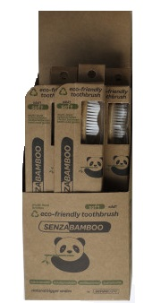 Image of Bamboo Toothbrush Soft Adult 12 Pack