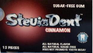 Image of Stevia SteviaDent Gum  (sugar-free) Cinnamon