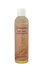 Image of Bath & Body Massage Oil Cedar Sage