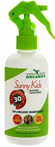 Image of Sunny Kids Natural Sunscreen SPF 30 Spray