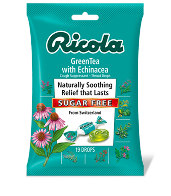 Image of Herbal Throat Drops Bag Sugar Free Echinacea Green Tea