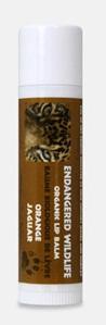 Image of Endangered Wildlife Organic Lip Balm Orange (Jaguar)