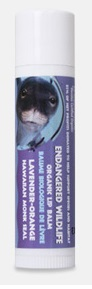 Image of Endangered Wildlife Organic Lip Balm Lavender-Orange (Monk Seal)