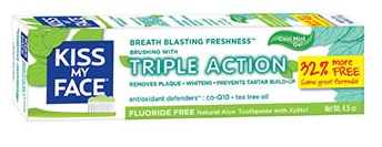 Image of Toothpaste Triple Action Gel FLUORIDE FREE Cool Mint