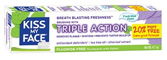 Image of Toothpaste Triple Action Paste FLUORIDE FREE Fresh Mint