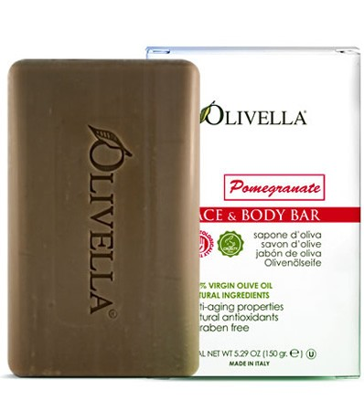 Image of Olivella Face & Body Bar Soap Pomegranate