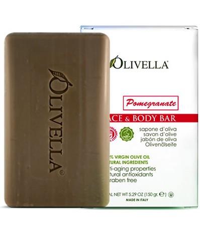 Image of Olivella Face & Body Bar Soap Pomegranate