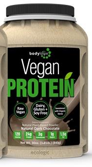 Image of Vegan Raw Protein Powder Natural Dark Chocolate