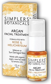 Image of Argan Facial Treatmmlent Organic Rose & Helichrysum (for mature skin)