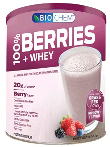 Image of Biochem 100% Berries & Whey Protein Powder Berry