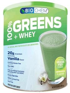 Image of Biochem 100% Greens & Whey Powder Vanilla