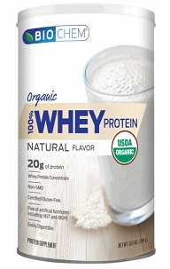 Image of Biochem 100% Whey Protein Powder Organic Natural