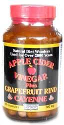 Image of Apple Cider Vinegar Plus Grapefruit & Cayenne 500 mg