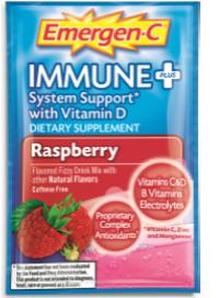 Image of Emergen-C Immune+ Powder Packet Raspberry