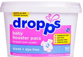 Image of Baby Booster Laundry Pacs Scent + Dye Free
