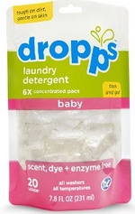 Image of Laundry Detergent for Baby Pacs Scent Dye + Enzyme Free