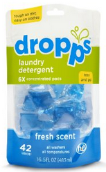 Image of Laundry Detergent Pacs Fresh Scent