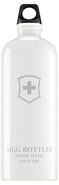 Image of Water Bottle Swiss Emblem White 1.0