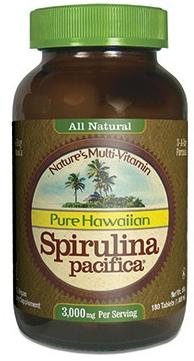 Image of Pure Hawaiian Spirulina Pacifica 1000 mg Tablet