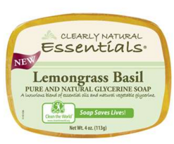 Image of Clearly Natural Glycerine Bar Soap Lemongrass Basil