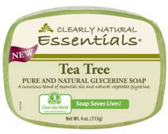 Image of Clearly Natural Glycerine Bar Soap Tea Tree