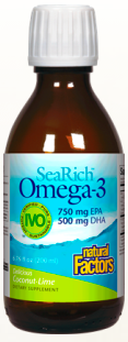 Image of SeaRich Omega-3 with Vitamin D3 Liquid Coconut-Lime