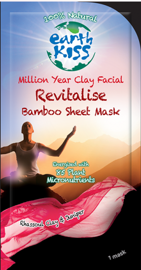 Image of Million Year Clay Facial - Revitalise Bamboo Sheet Mask (dry, sensitive skin)