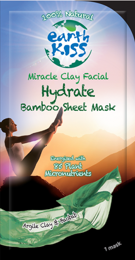 Image of Miracle Clay Facial - Hydrate Bamboo Sheet Mask (dry, sensitive skin)