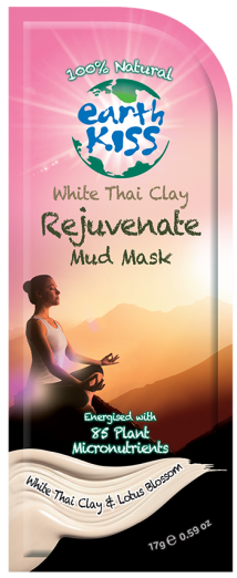 Image of White Thai Clay - Rejuvenate Mud Mask (combination, normal, oily skin)