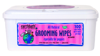 Image of Puppy Grooming Wipes Wild Cherry Scent