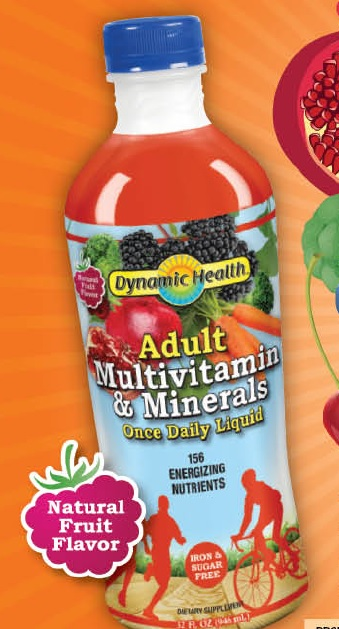 Image of Liquid Adult Multivitamin and Minerals Once Daily, Fruit