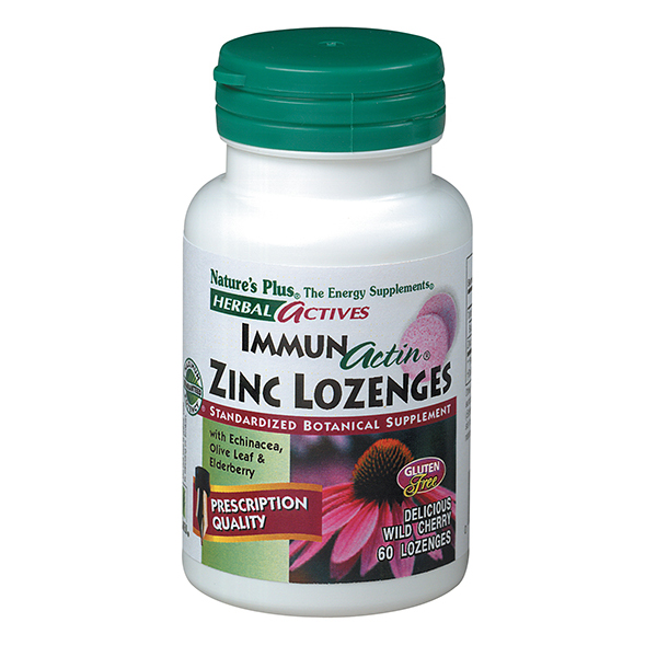 Image of ImmunActin Zinc Lozenges, Herbal Actives