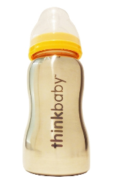 Image of ThinkBaby Baby Bottle Stainless Steel 9 Ounces