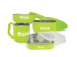 Image of ThinkBabay The Complete BPA Free Feeding Set Light Green