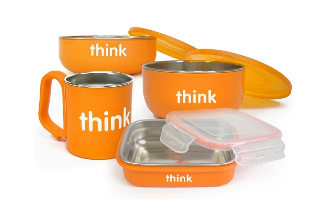 Image of ThinkBaby The Complete BPA Free Feeding Set Orange