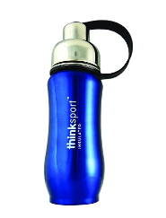 Image of ThinkSport Insulated Sports Bottle 12 Ounces Metallic Blue